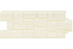 Фасадная панель Grand Line Крупный камень стандарт молочная