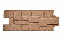 Фасадная панель Grand Line Крупный камень стандарт глина