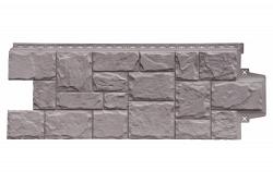 Фасадная панель Grand Line Крупный камень Элит какао