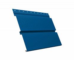 Металлический софит Квадро брус с перфорацией 0,4 Pe Ral 5005 сигнальный синий