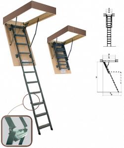 Выдвижная металлическая чердачная лестница Lms