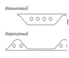 Заполнитель Ондувилла (комплект) Длина 0,95 м. Толщина 19 мм. ( 2 шт в компл.)