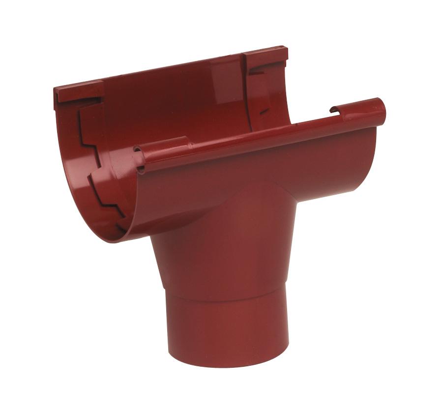 Водосток Nicoll (николь) - Воронка клеевая к желобу D 80мм - водосточная система Lg 25 полукруглый профиль - купить