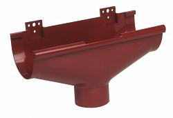 Водосток Nicoll (николь) - Воронка компенсирующая к желобу D 80мм - водосточная система Lg 25 полукруглый профиль