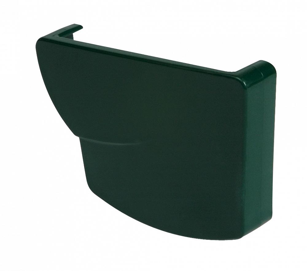 Водосток Nicoll (николь) - Заглушка желоба правая клеевая - водосточная система Овация - купить
