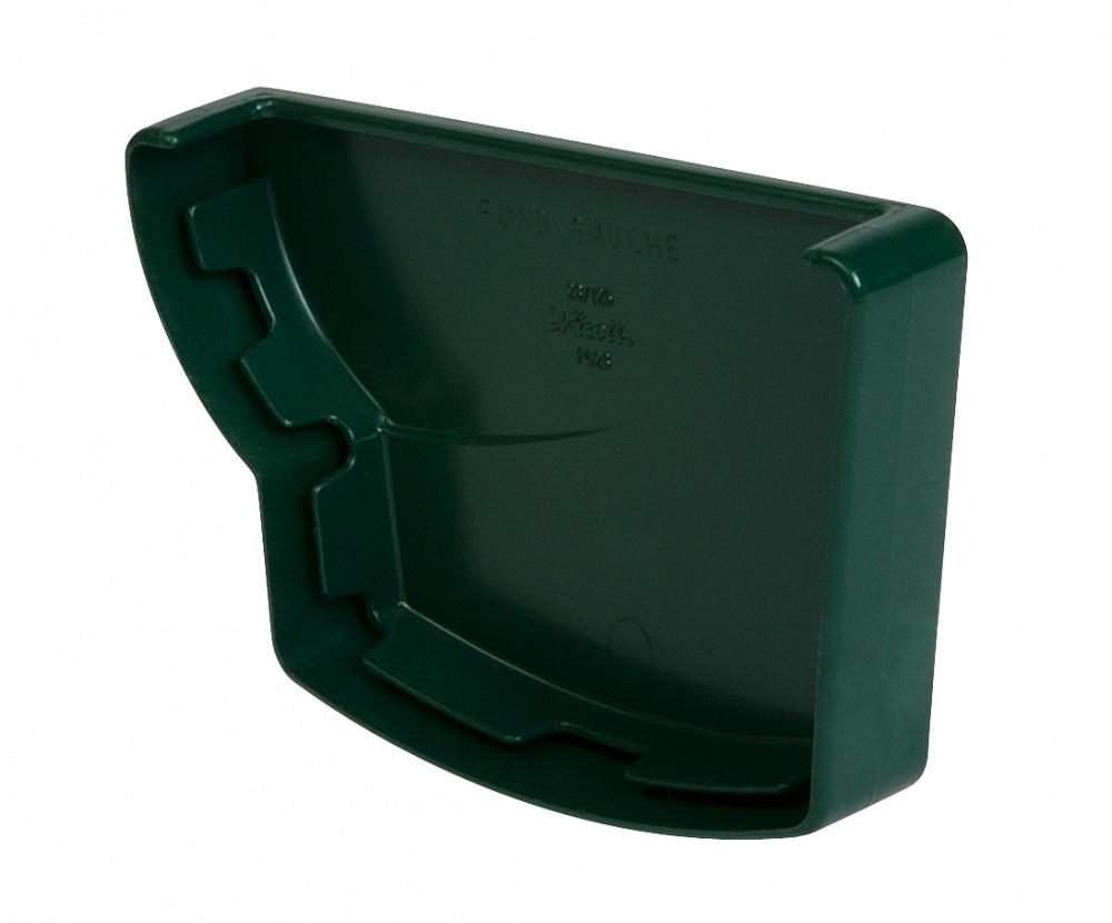 Водосток Nicoll (николь) - Заглушка желоба левая клеевая - водосточная система Овация - купить